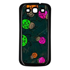 Abstract Bug Insect Pattern Samsung Galaxy S3 Back Case (black)