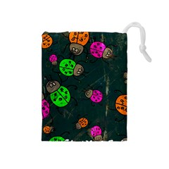 Abstract Bug Insect Pattern Drawstring Pouches (medium)  by BangZart