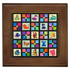 Animal Party Pattern Framed Tiles by BangZart