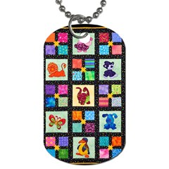 Animal Party Pattern Dog Tag (one Side)