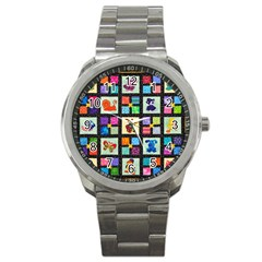 Animal Party Pattern Sport Metal Watch by BangZart