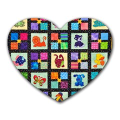 Animal Party Pattern Heart Mousepads by BangZart