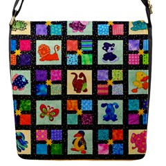 Animal Party Pattern Flap Messenger Bag (s)