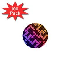 Abstract Small Block Pattern 1  Mini Buttons (100 Pack)  by BangZart