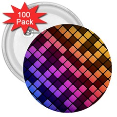 Abstract Small Block Pattern 3  Buttons (100 Pack)  by BangZart