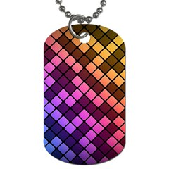Abstract Small Block Pattern Dog Tag (one Side) by BangZart