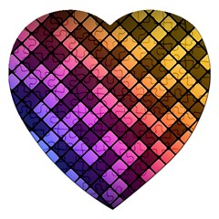 Abstract Small Block Pattern Jigsaw Puzzle (heart) by BangZart