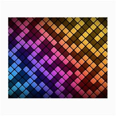 Abstract Small Block Pattern Small Glasses Cloth