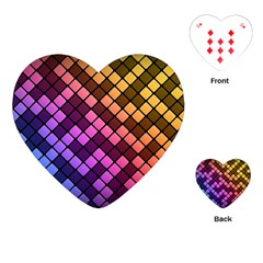 Abstract Small Block Pattern Playing Cards (heart)  by BangZart