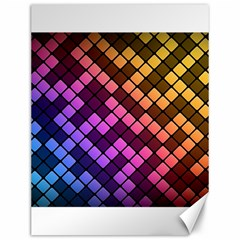 Abstract Small Block Pattern Canvas 12  X 16   by BangZart