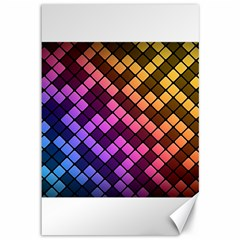 Abstract Small Block Pattern Canvas 12  X 18   by BangZart