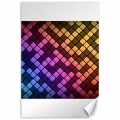 Abstract Small Block Pattern Canvas 24  X 36  by BangZart