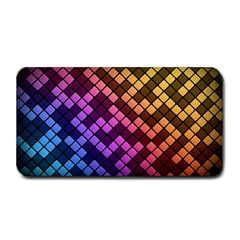 Abstract Small Block Pattern Medium Bar Mats by BangZart
