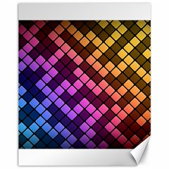 Abstract Small Block Pattern Canvas 11  X 14   by BangZart