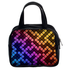 Abstract Small Block Pattern Classic Handbags (2 Sides) by BangZart