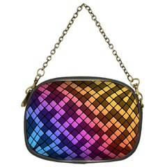 Abstract Small Block Pattern Chain Purses (one Side)  by BangZart