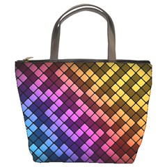 Abstract Small Block Pattern Bucket Bags