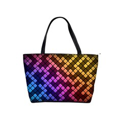 Abstract Small Block Pattern Shoulder Handbags by BangZart