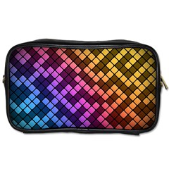 Abstract Small Block Pattern Toiletries Bags by BangZart