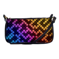 Abstract Small Block Pattern Shoulder Clutch Bags by BangZart