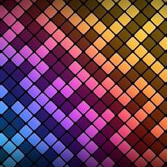 Abstract Small Block Pattern Magic Photo Cubes by BangZart
