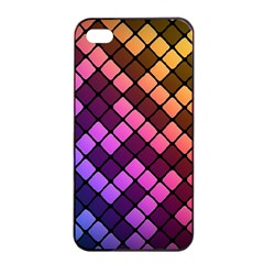 Abstract Small Block Pattern Apple Iphone 4/4s Seamless Case (black) by BangZart