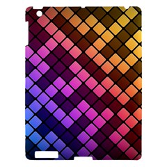 Abstract Small Block Pattern Apple Ipad 3/4 Hardshell Case