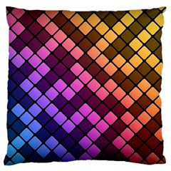 Abstract Small Block Pattern Large Cushion Case (two Sides) by BangZart