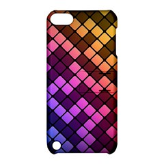 Abstract Small Block Pattern Apple Ipod Touch 5 Hardshell Case With Stand