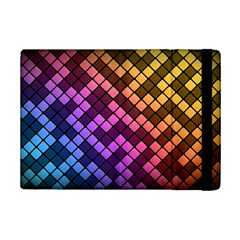 Abstract Small Block Pattern Ipad Mini 2 Flip Cases by BangZart