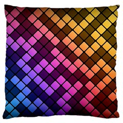 Abstract Small Block Pattern Standard Flano Cushion Case (one Side) by BangZart