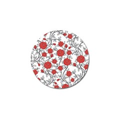 Texture Roses Flowers Golf Ball Marker by BangZart