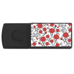 Texture Roses Flowers Rectangular Usb Flash Drive by BangZart
