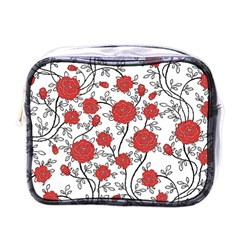 Texture Roses Flowers Mini Toiletries Bags by BangZart