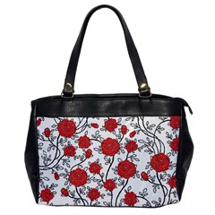 Texture Roses Flowers Office Handbags