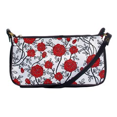 Texture Roses Flowers Shoulder Clutch Bags