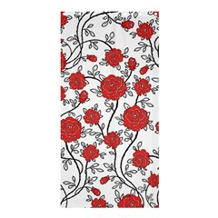 Texture Roses Flowers Shower Curtain 36  X 72  (stall)  by BangZart
