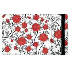 Texture Roses Flowers Apple Ipad 3/4 Flip Case by BangZart