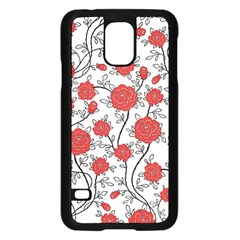 Texture Roses Flowers Samsung Galaxy S5 Case (black)