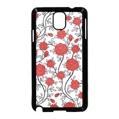 Texture Roses Flowers Samsung Galaxy Note 3 Neo Hardshell Case (black) by BangZart