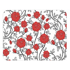 Texture Roses Flowers Double Sided Flano Blanket (large)  by BangZart