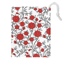 Texture Roses Flowers Drawstring Pouches (xxl)