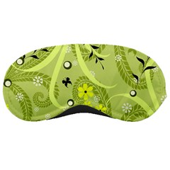 Flowers On A Green Background                            Sleeping Mask by LalyLauraFLM