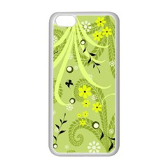 Flowers On A Green Background                      Apple Iphone 5c Seamless Case (black) by LalyLauraFLM