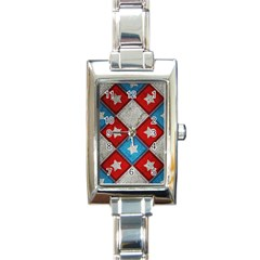 Atar Color Rectangle Italian Charm Watch by BangZart