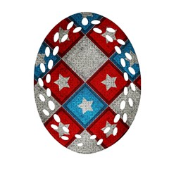 Atar Color Oval Filigree Ornament (two Sides)
