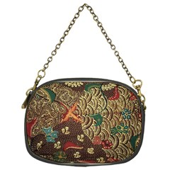 Art Traditional Flower  Batik Pattern Chain Purses (one Side)  by BangZart