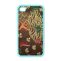 Art Traditional Flower  Batik Pattern Apple Iphone 4 Case (color)