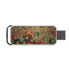 Art Traditional Flower  Batik Pattern Portable Usb Flash (one Side)