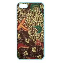 Art Traditional Flower  Batik Pattern Apple Seamless Iphone 5 Case (color) by BangZart
